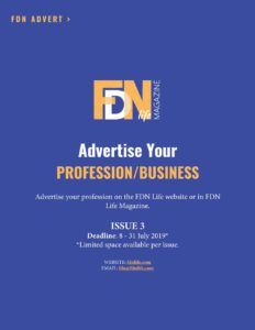 Advertise your busienss or profession FDN Life