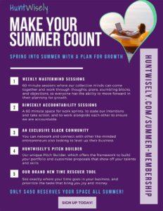 Huntwisely Advert - Summer Membership
