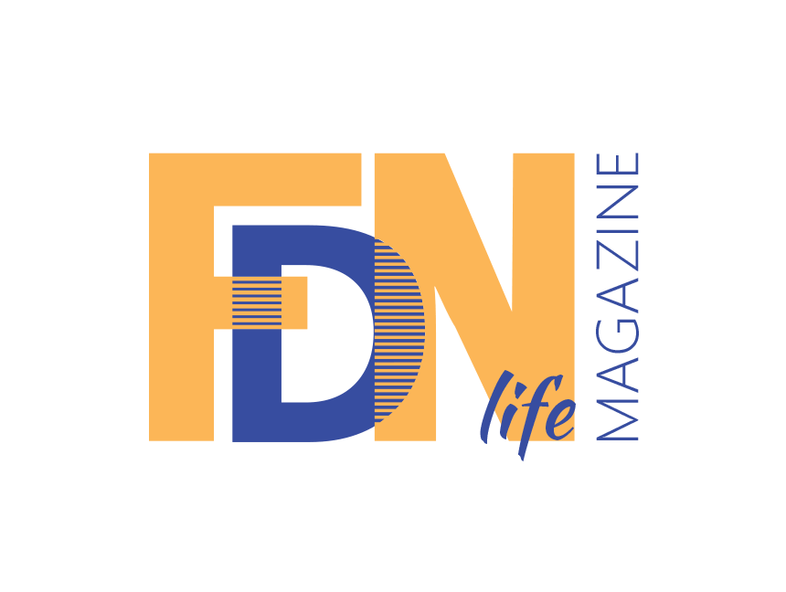 FDN Life Magazine Blue Logo with White Background