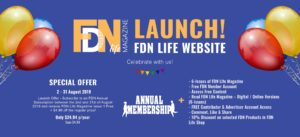 FDN Life Magazine - Website Launch Banner