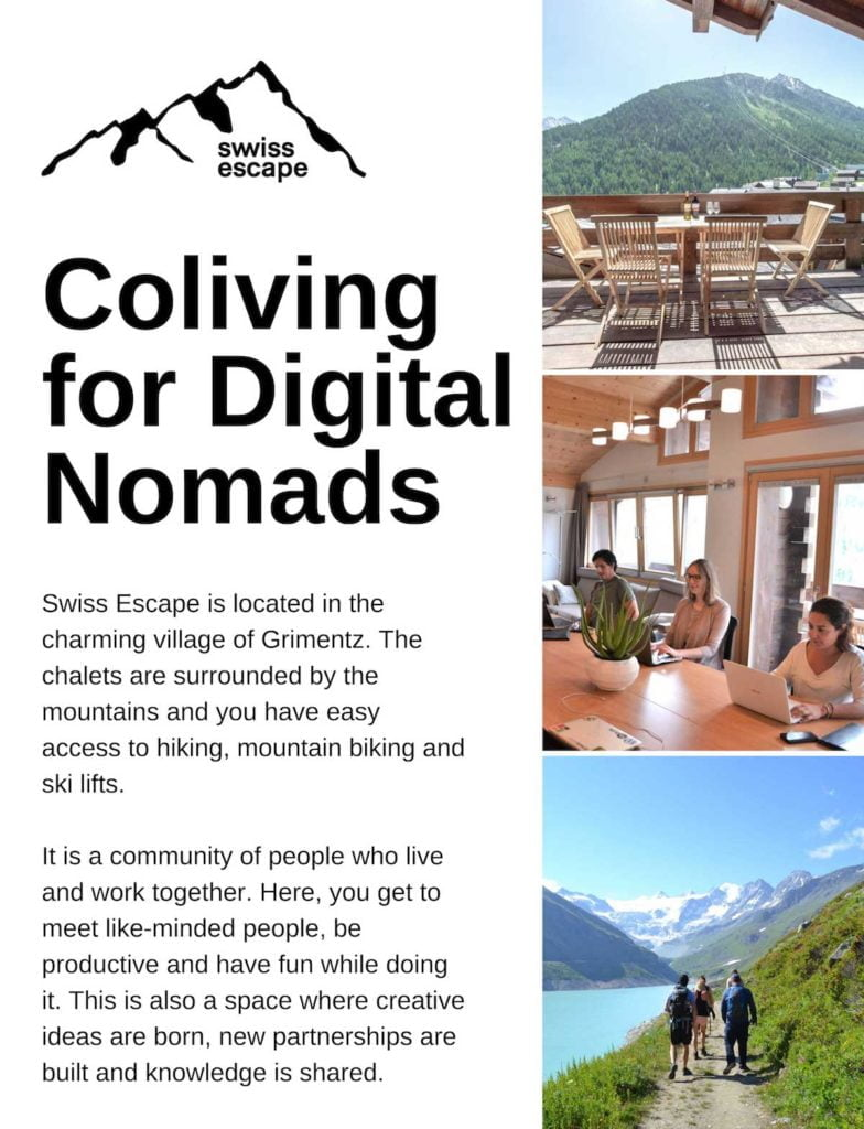 FDN Life Magazine - Swiss Escape is located in the charming village of Grimentz. The chalets are surrounded by the mountains and you have easy access to hiking, mountain biking and ski lifts.