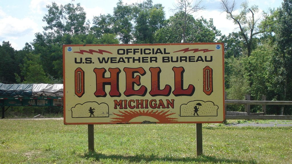 FDN LIFE MAGAZINE - ISSUE 4 - LOL! - THE STRANGEST, FUNNIEST & MOST HILARIOUS PLACE NAMES IN THE WORLD! - Hell in Michigan USA