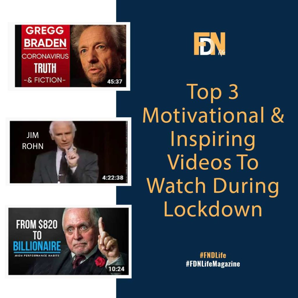 Top 3 Videos To Keep Motivated & Inspired During Lockdown