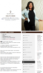 Sample of what the Online Version of FDN Life Magazine looks like, which is a blog style web version.
